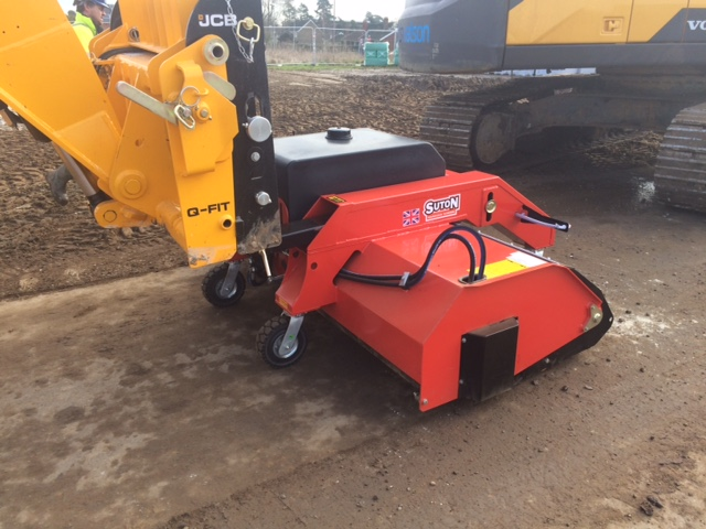 Sitesweep industrial sweeper attachment