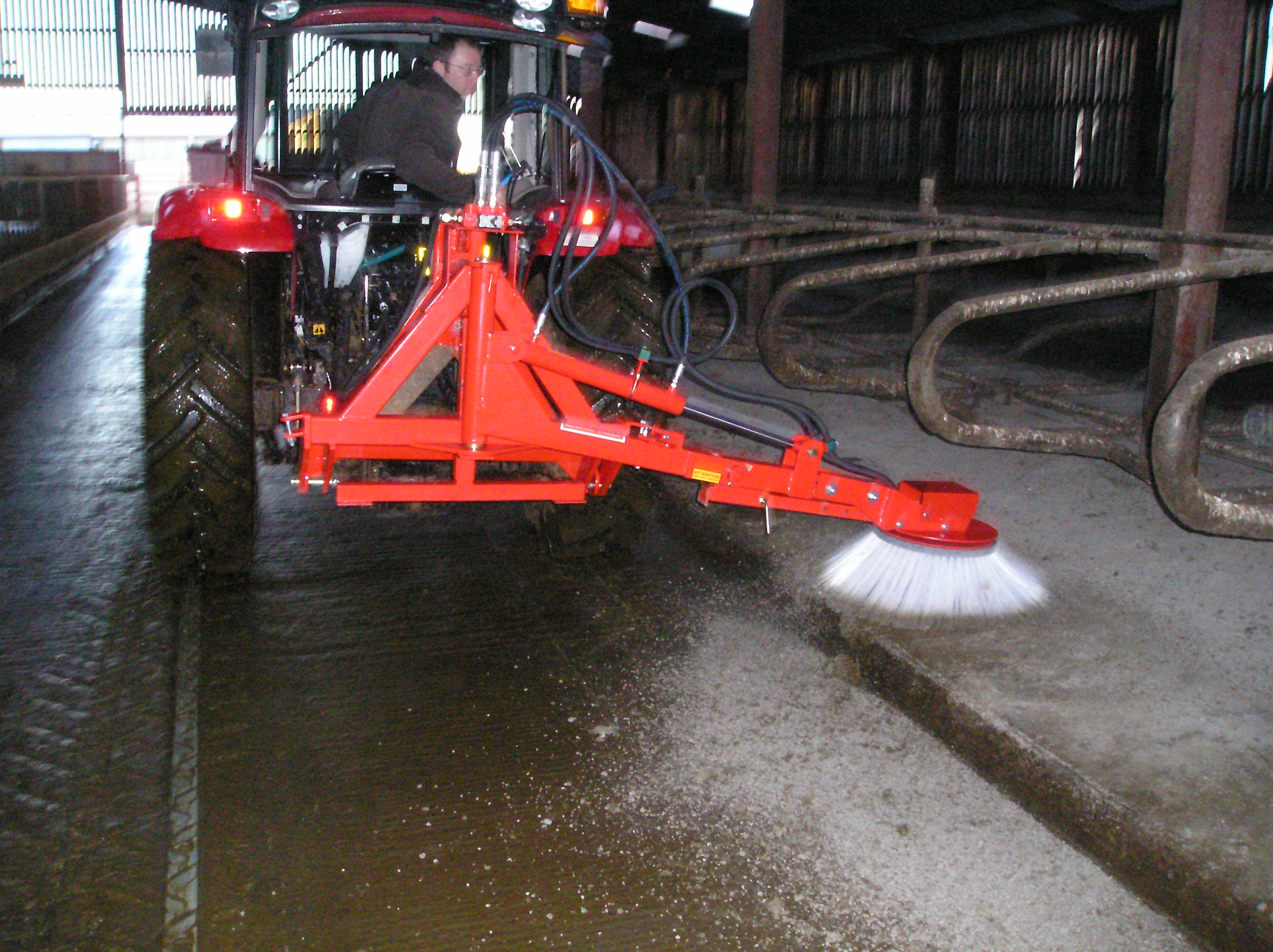 Turbo Clean Tractor Side Brush Attachment
