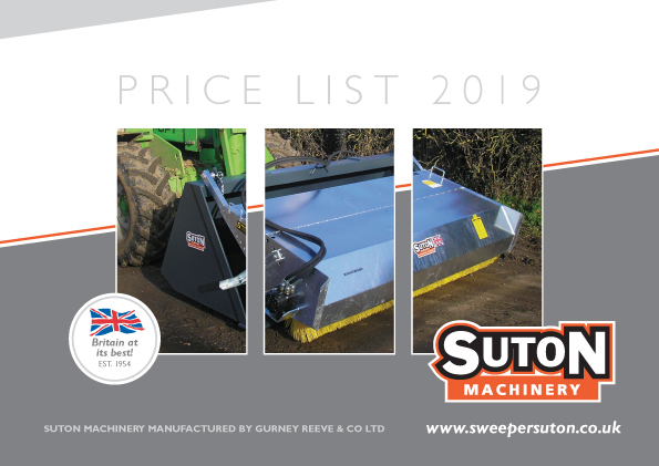 Price List 2019 Front Cover